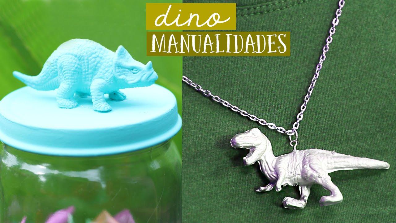 Manualidades Con Dinosaurios De Plastico Craftingeek Youtube