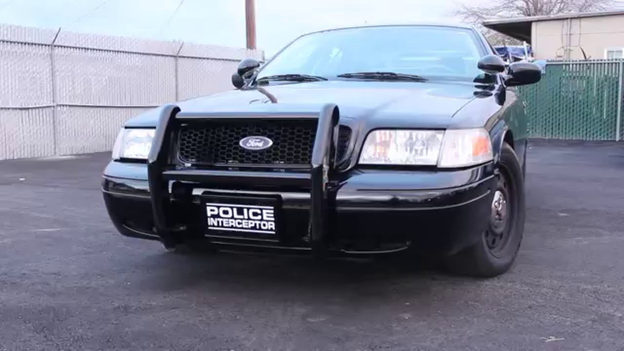2007 Ford Crown Victoria P71 Black Guard Push Bumper Spotlights 81K Miles
