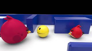 Pacman Vs Angry Birds [Save Chuck] Part 2