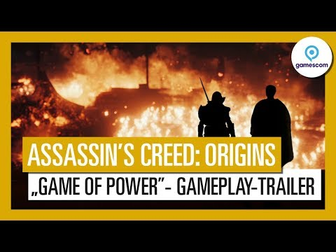 "Assassin's Creed Origins: Gamescom 2017 ""Game of Power""-Gameplay-Trailer"