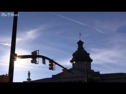 Clemson flag flies over SC State House