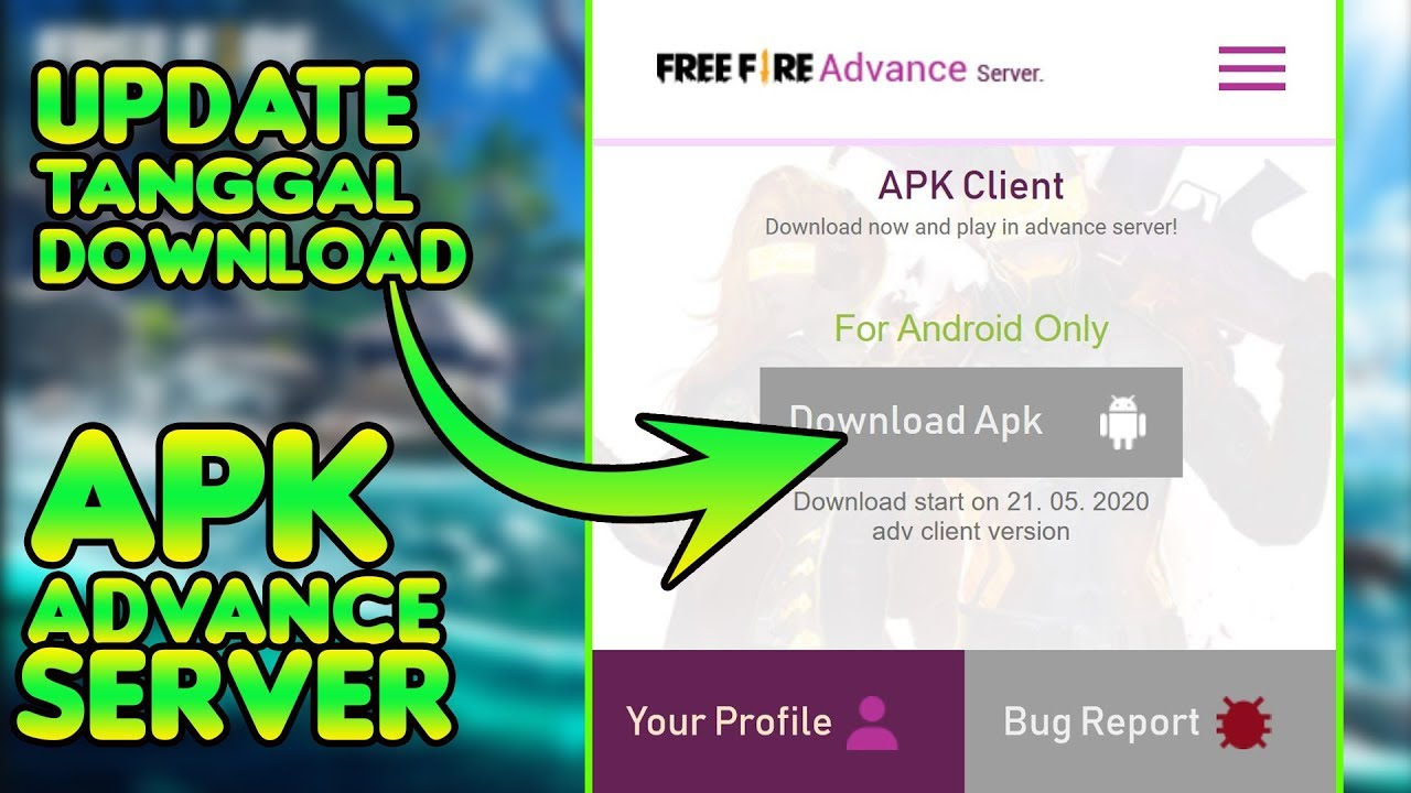 Update Tanggal Download Apk Advance Server Free Fire Mei 2020 Youtube