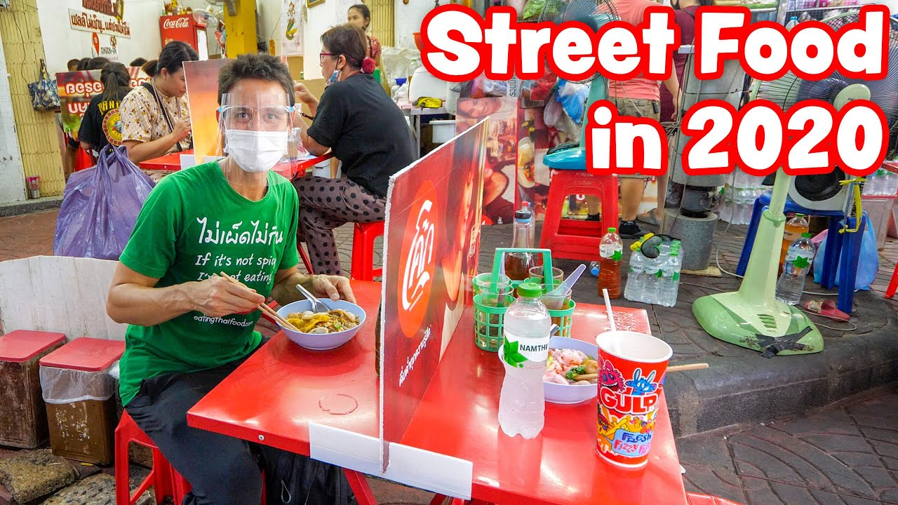 Street Food in 2020, Thai Food SOCIAL DISTANCING in Bangkok, Thailand!
