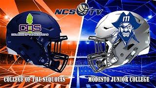 College of Sequoias vs Modesto Junior College Football LIVE 10/19/19