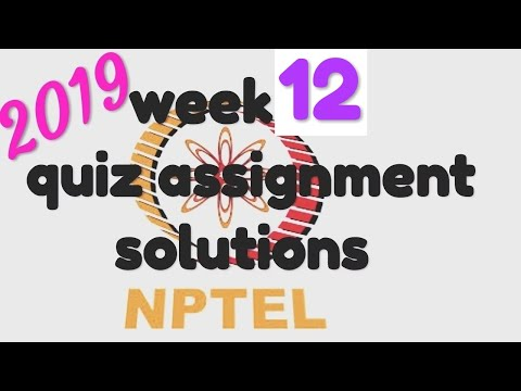 NPTEL |Joy of computing using Python| WEEK 12 QUIZ SOLUTIONS| thumbnail