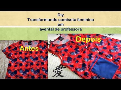6797fe78e1 Diy - Customização (transformando camiseta feminina em avental ...