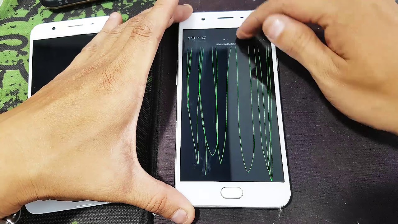 Hướng dẫn Test màn hình cảm ứng Smartphone Oppo F1S