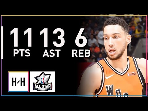 Ben Simmons Full Highlights at 2018 Rising Stars Game - 11 Pts, 6 Reb, 13 Assists