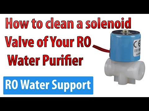 How to clean a solenoid valve of your RO water Purifier | RO Water Support |