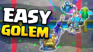 NEW EASY GOLEM DECK for CLASH ROYALE GLOBAL TOURNAMENT!