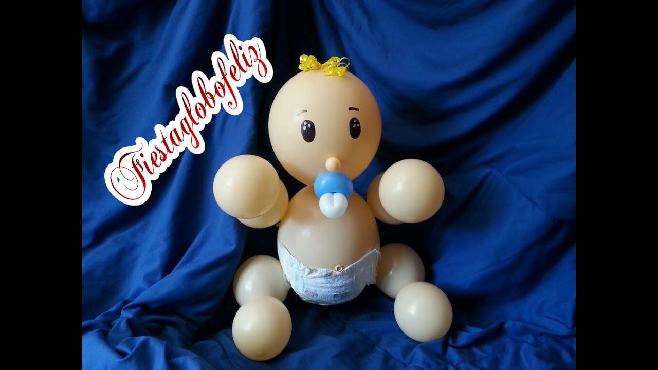 Como hacer un beb en pa ales con globos youtube - Como hacer decoracion con globos ...