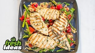 Bbq Basil Chilli Chicken Recipe With Grilled Veggies And Quinoa