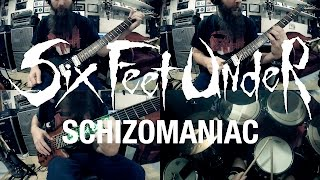"Six Feet Under ""Schizomaniac"" (BAND PLAY THROUGH)"