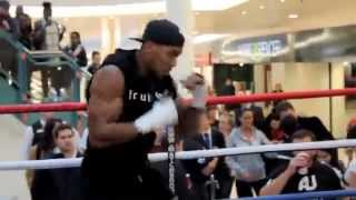ANTHONY JOSHUA MBE SHADOW BOXING FOR THE PUBLIC IN HOME CITY OF WATFORD
