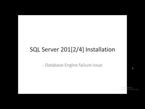 Database Engine Services failed