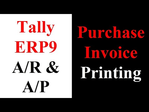 Purchase Voucher Invoice Printing  Youtube