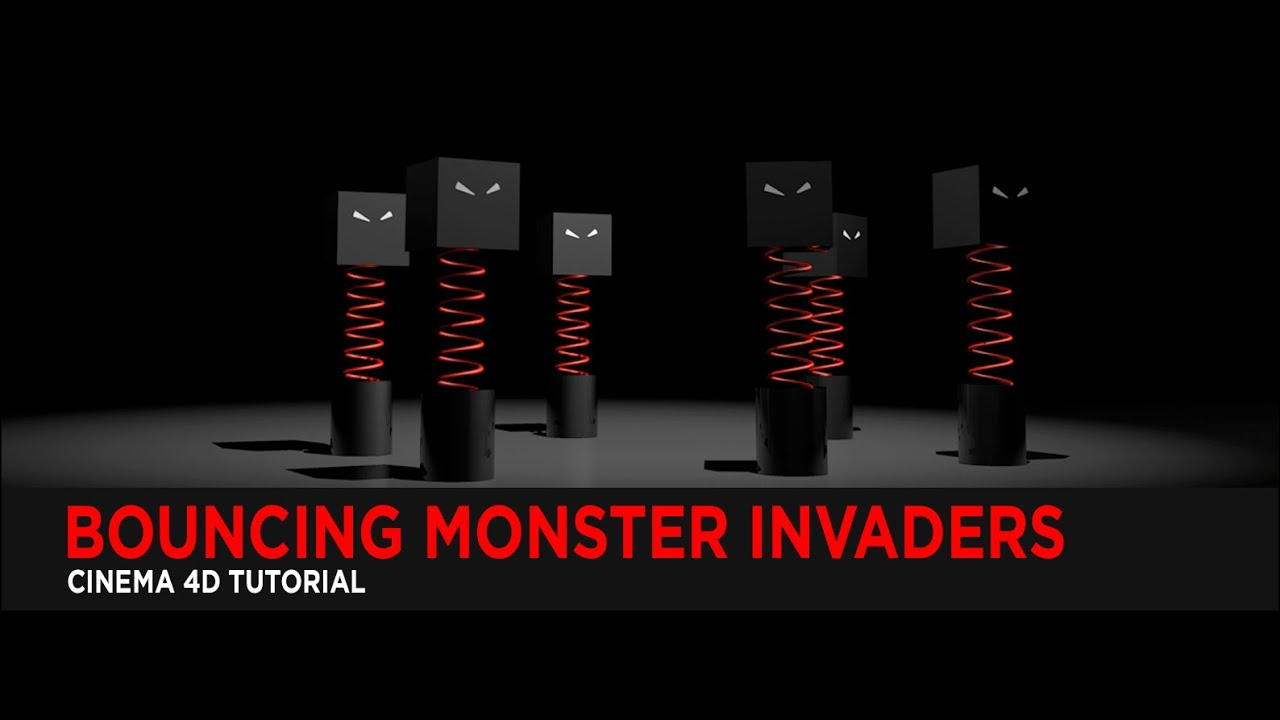 Tutorial : Bouncing Monster Invaders Tutorial in Cinema 4D
