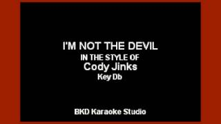Gambar cover Cody Jinks - I'm Not The Devil (Karaoke with Lyrics)