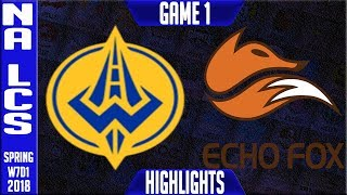 Video GGS vs FOX Highlights | NA LCS Week 7 Spring 2018 W7D1 | Golden Guardians vs Echo Fox Highlights download MP3, 3GP, MP4, WEBM, AVI, FLV Agustus 2018