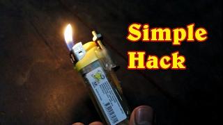 Simple Life hack for lighter - Flopcloud