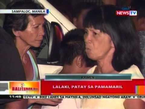 BT: Lalaki, patay sa pamamaril sa Sampaloc, Manila