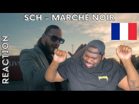 SCH - Marché Noir (Clip officiel) (UK REACTION) // REACTING TO FRENCH RAP
