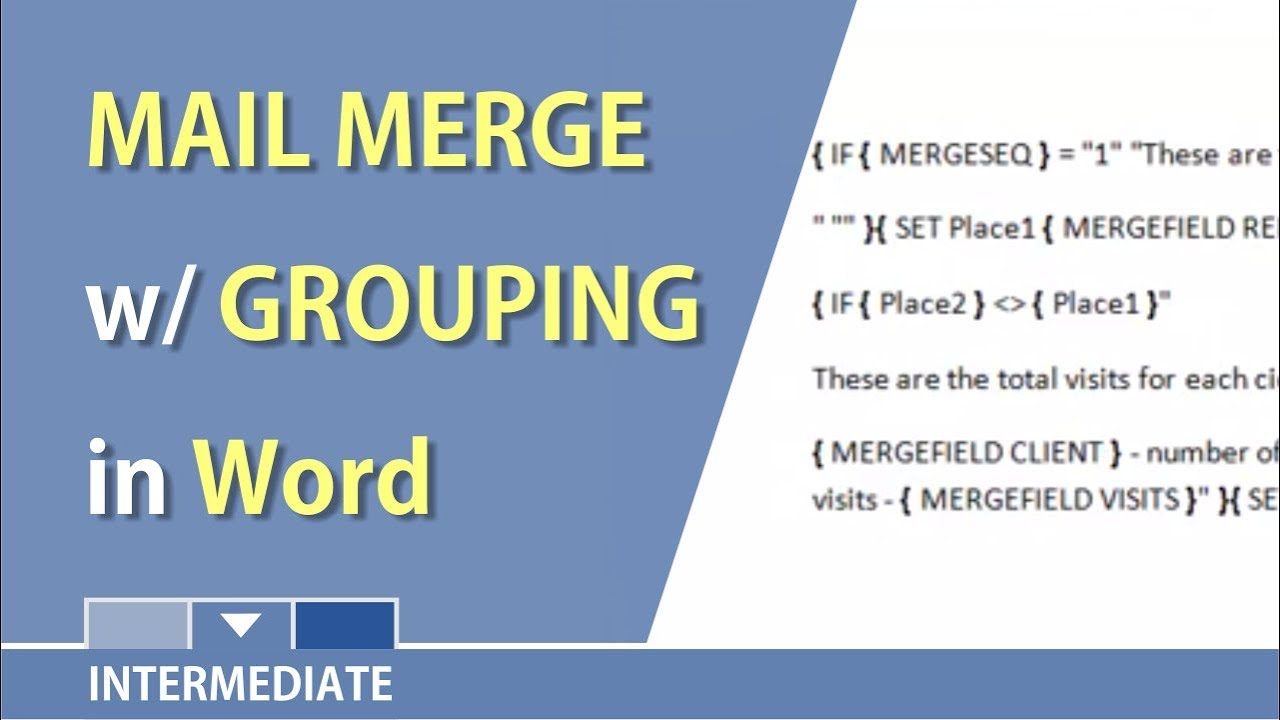Mail Merge In Word With Grouping Records By Chris Menard  Youtube