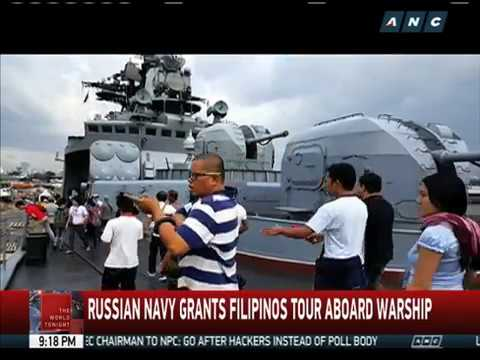 Russian Navy grants Filipinos tour aboard warship
