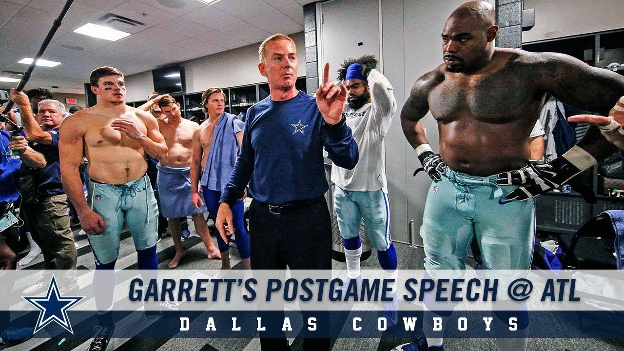 Garrett's Locker Room Speech @ ATL | Dallas Cowboys 2018