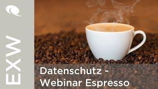 Datenschutz - Webinar Espresso