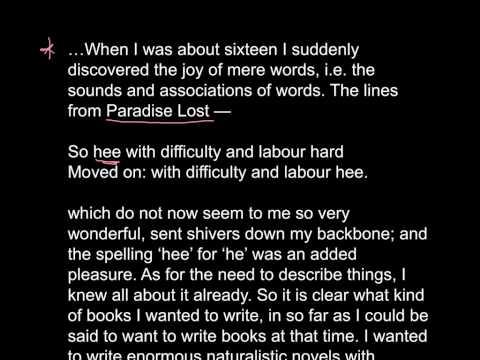 George Orwell - Why I write.