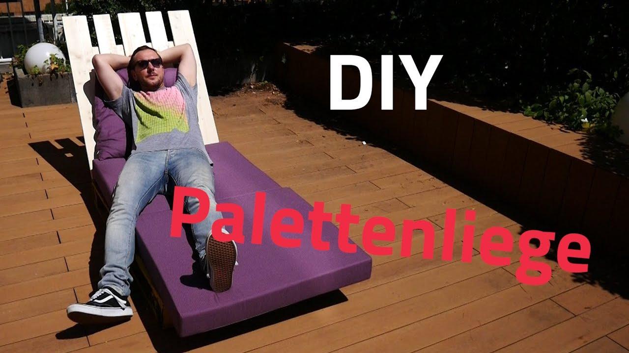 Gartenliege selber bauen aus paletten  Palettenmöbel: Europaletten-Gartenliege selbst bauen - YouTube