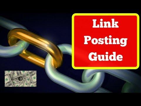 LINK POSTING GUIDE: 4-Step Formula to Making Money by Posting Links Online