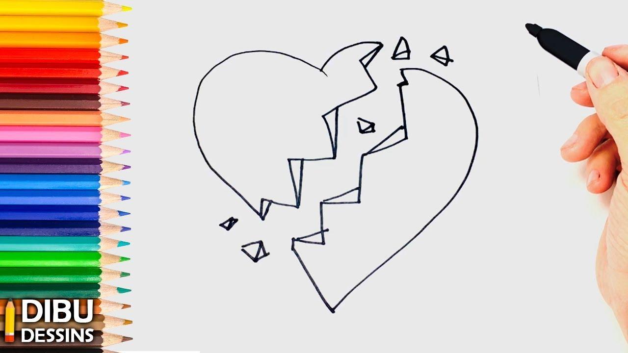 Comment Dessiner Un Coeur Brise Dessin De Coeur Brise Social Useful Stuff Handy Tips