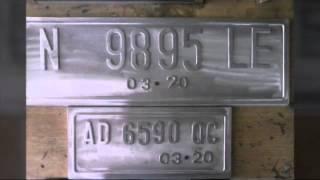 Mesin pres plat nomor tnkb