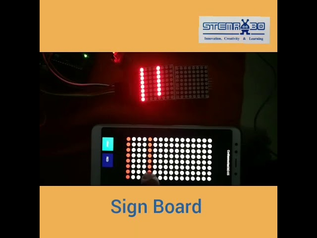 Bluetooth-Enabled Sign Board