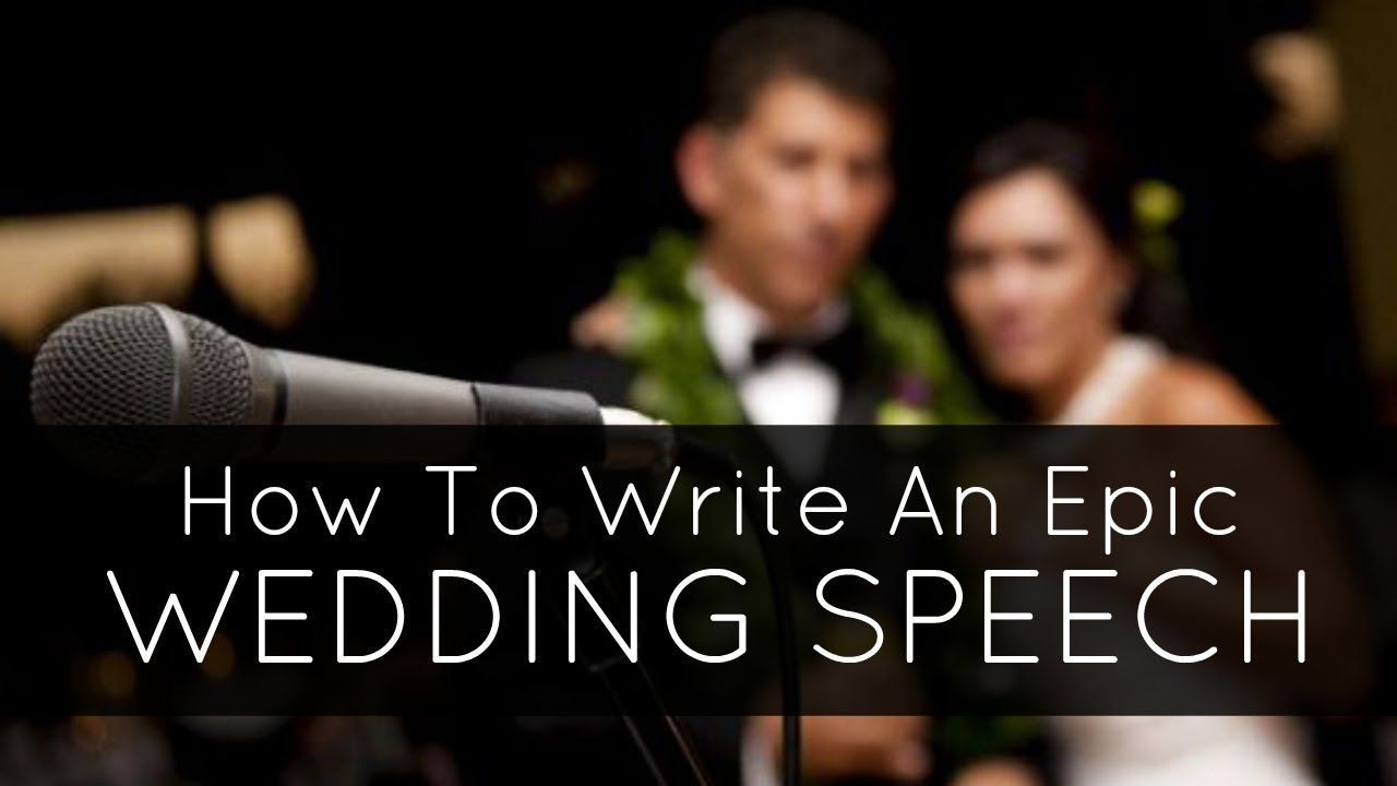 How to write wedding speech