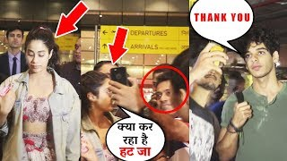 Janhvi Kapoor FIRST TIME GETS ANGRY On Fans At Airport