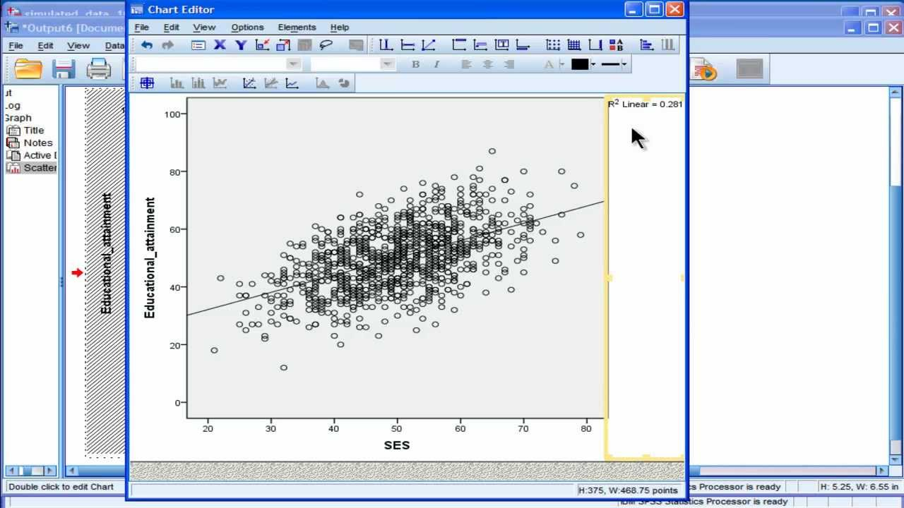 Scatter plot spss part 1 youtube ccuart Image collections