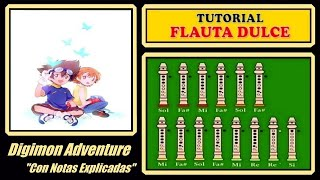 Digimon Adventure en Flauta Dulce