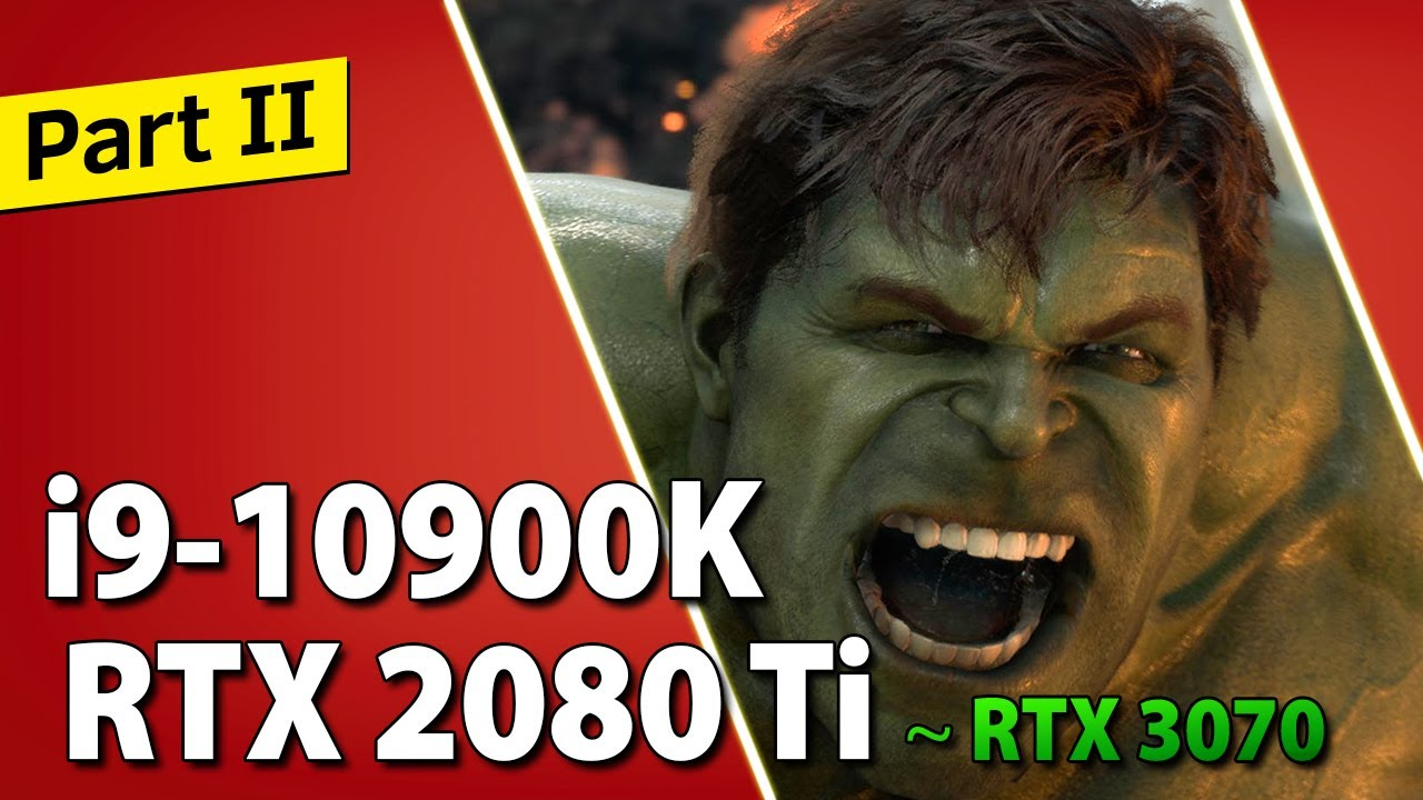 i9-10900K + RTX 2080 Ti (~ RTX 3070) // Test in 10 Games | 1080p, 1440p, 4K