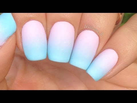 Simple Pastel Gradient Nails Youtube