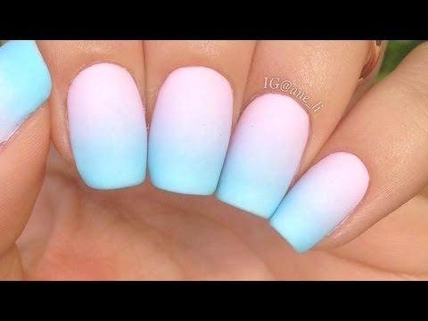 simple pastel gradient nails