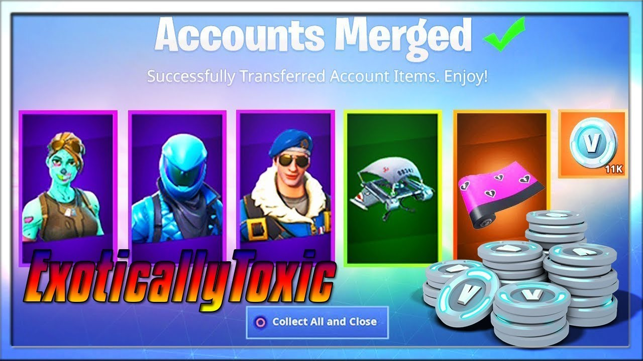 My Rare Fortnite Account Finally Merged Your Account Merge