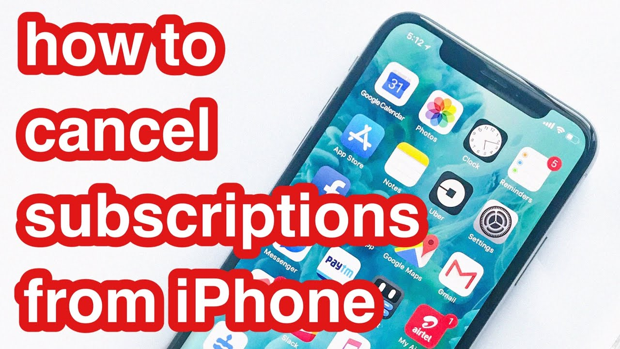 how to cancel subscriptions on iphone