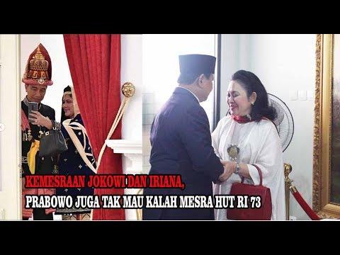 Kemesraan Jokowi Dan Iriana, Prabowo Dan Titiek Soeharto Di Hari Merdeka 17 Agustus 2018