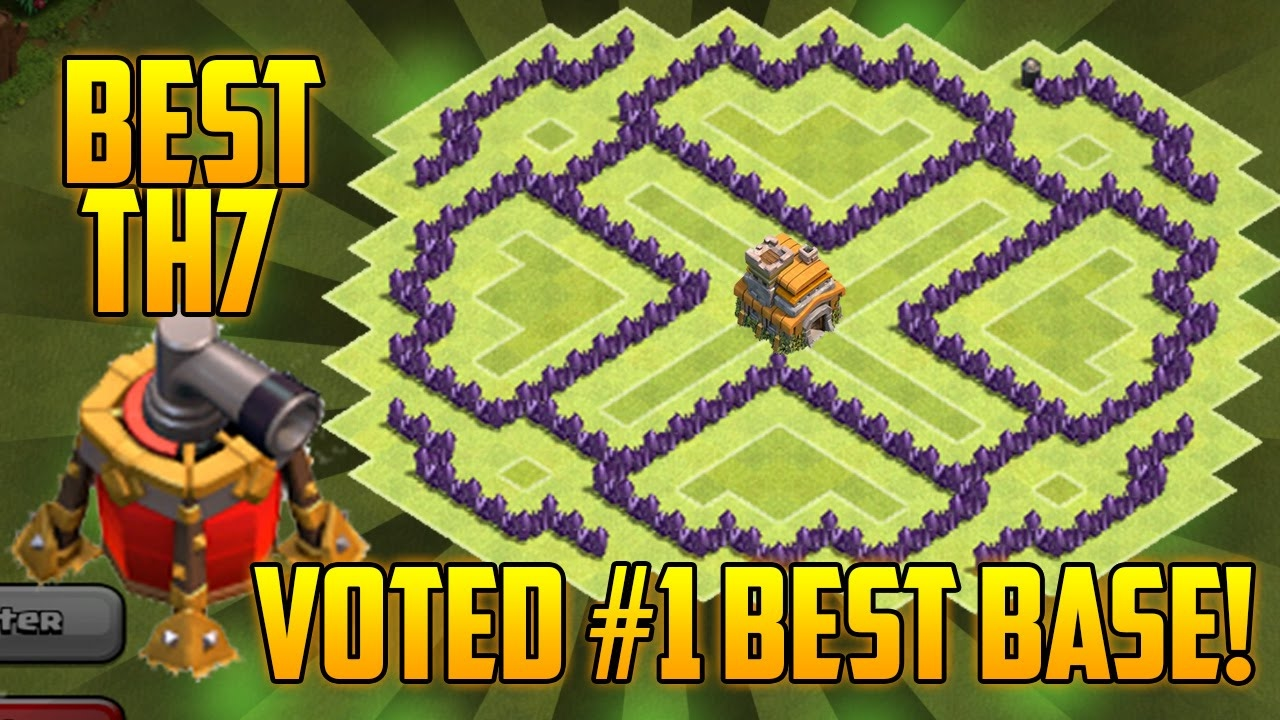 Coc Best Th7 Hybrid Base With Air Sweeper Clash Of Clans Town Hall 7 Defense 2015 Youtube