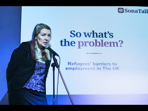 Refugee Barriers to Employment | Irina Bormotova | TEDx style SonaTalks