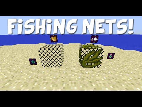 Minecraft | Mod Showcase: Fishing  Nets! (Make Fishing Easier!)