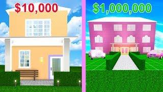 BIGGEST Mansion VS SMALLEST House In Bloxburg Challenge! (Roblox)
